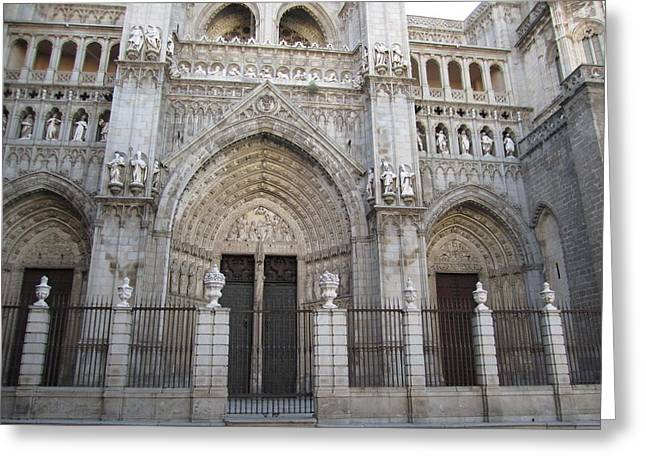 Toledo Cathedral Face To Face Greeting Card