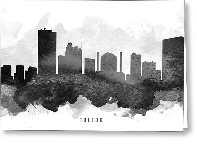 Toledo Cityscape 11 Greeting Card by Aged Pixel