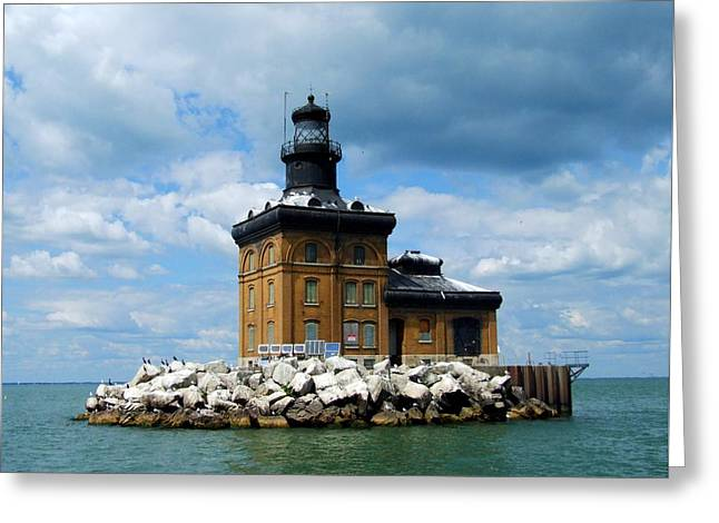 Toledo Harbor Lighthouse Greeting Card by Michiale Schneider