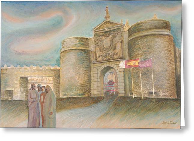 Toledo Homecoming Greeting Card by Barbara Nesin