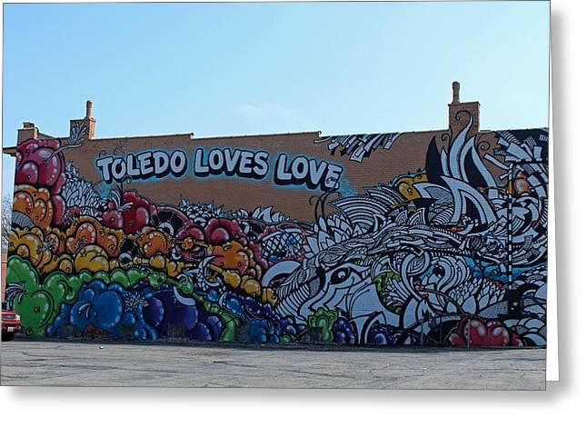Toledo Loves Love Greeting Card