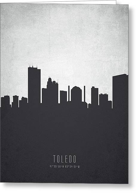 Toledo Ohio Cityscape 19 Greeting Card by Aged Pixel