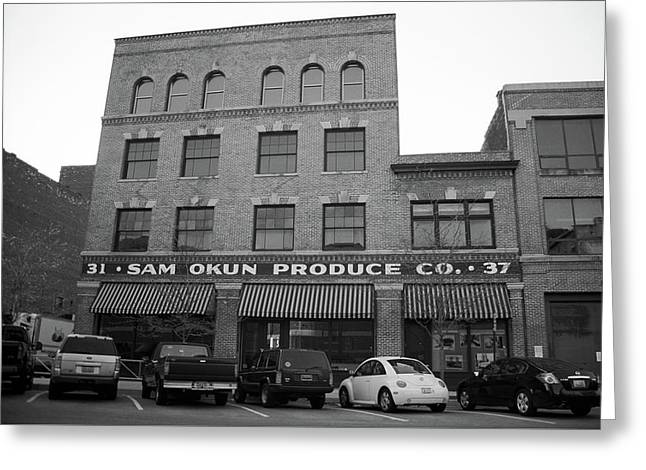 Toledo, Ohio - Downtown 1 Bw Greeting Card by Frank Romeo