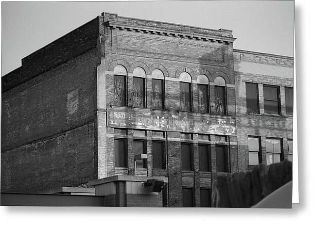 Toledo, Ohio - Downtown 3 Bw Greeting Card by Frank Romeo