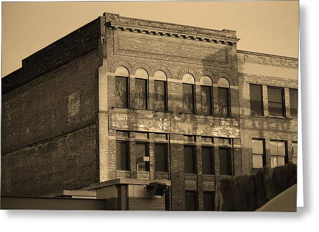 Toledo, Ohio - Downtown 3 Sepia Greeting Card by Frank Romeo