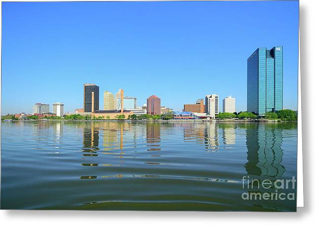 D12u-673 Toledo Ohio Skyline Photo Greeting Card