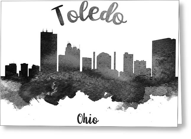 Toledo Ohio Skyline 18 Greeting Card by Aged Pixel
