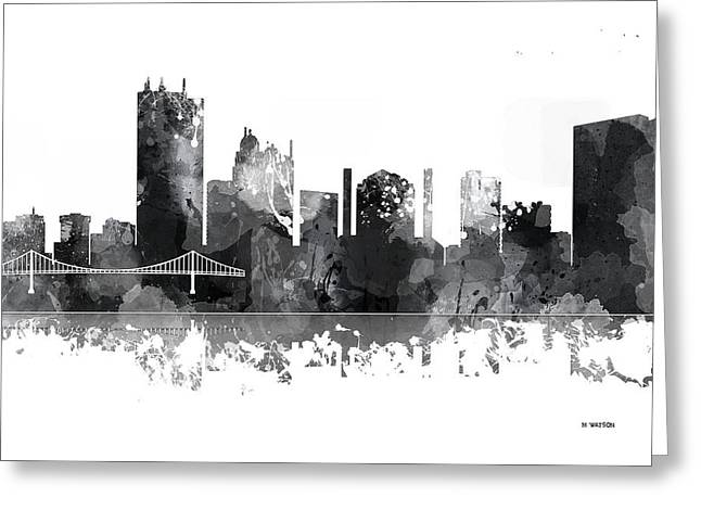 Toledo Ohio Skyline Greeting Card