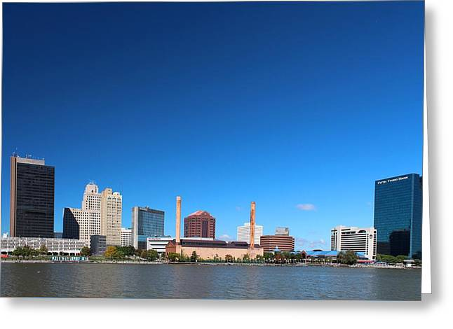 Greeting Card featuring the photograph Toledo Skyline I by Michiale Schneider