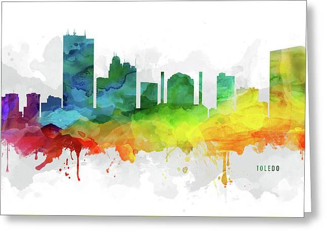 Toledo Skyline Mmr-usohto05 Greeting Card by Aged Pixel