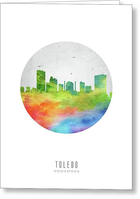 Toledo Skyline Usohto20 Greeting Card by Aged Pixel