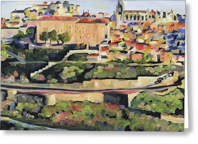 Toledo Spain Greeting Card by Anne Lewis