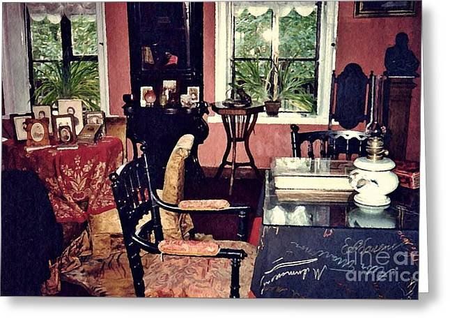 Tolstoy's Study In Moscow  Greeting Card by Sarah Loft