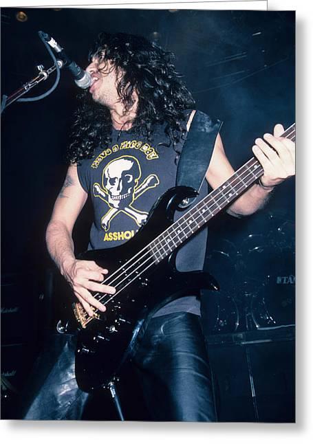 Tom Araya Of Slayer Greeting Card