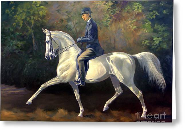 Tom Bass And Columbus Greeting Card by Jeanne Newton Schoborg