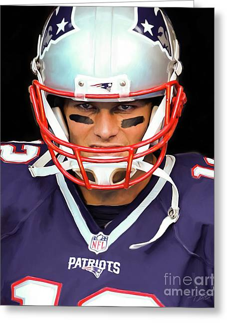 Tom Brady - Patriots Greeting Card