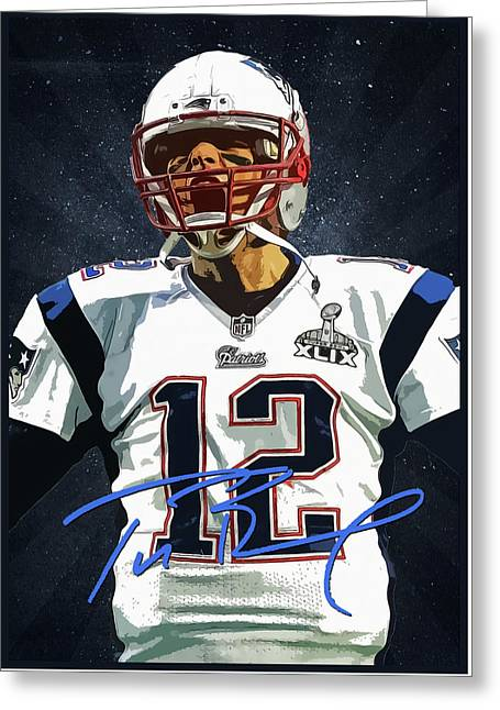 Tom Brady 3 Greeting Card by Semih Yurdabak
