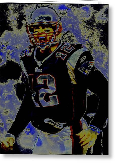 Tom Brady 3c Greeting Card by Brian Reaves
