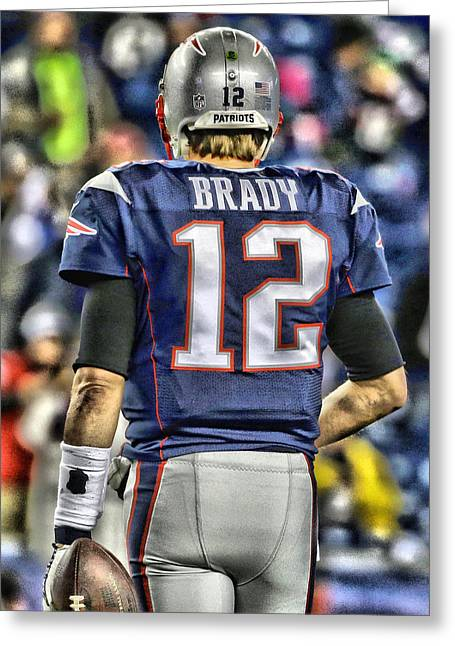Tom Brady Art 2 Greeting Card