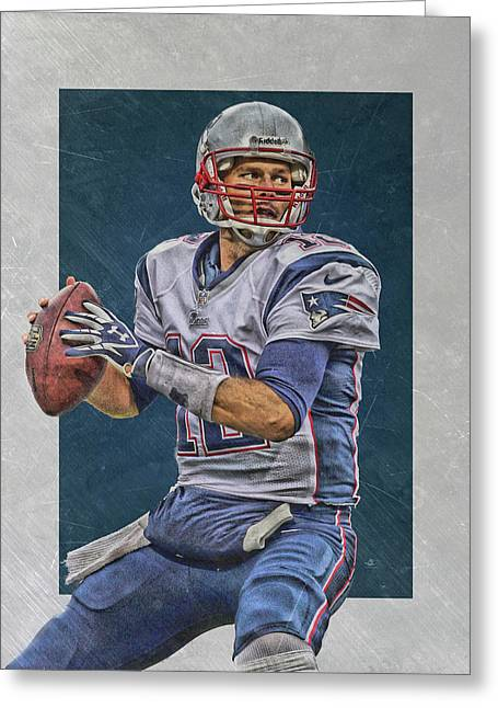Tom Brady New England Patriots Art Greeting Card