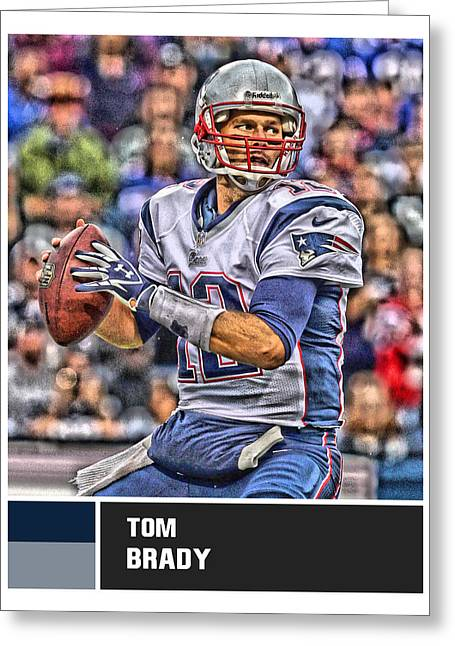 Tom Brady New England Patriots Greeting Card