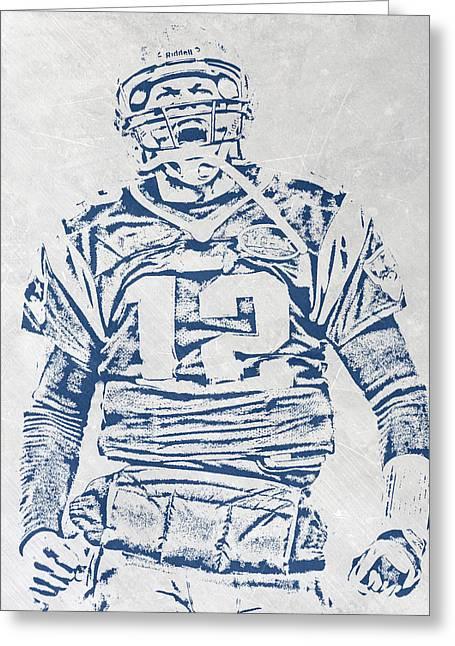 Tom Brady New England Patriots Pixel Art 1 Greeting Card