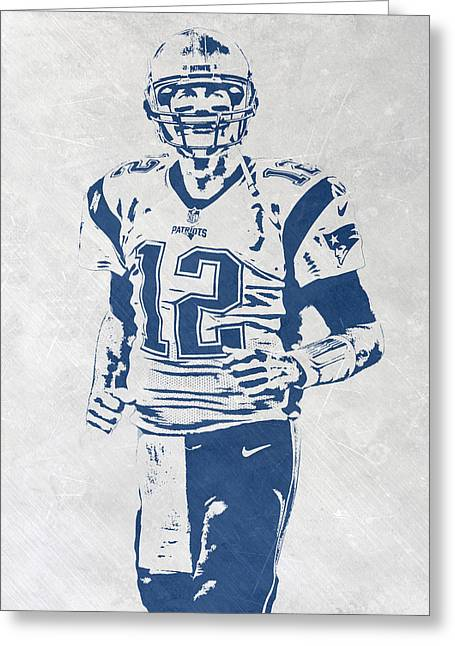 Tom Brady New England Patriots Pixel Art 2 Greeting Card