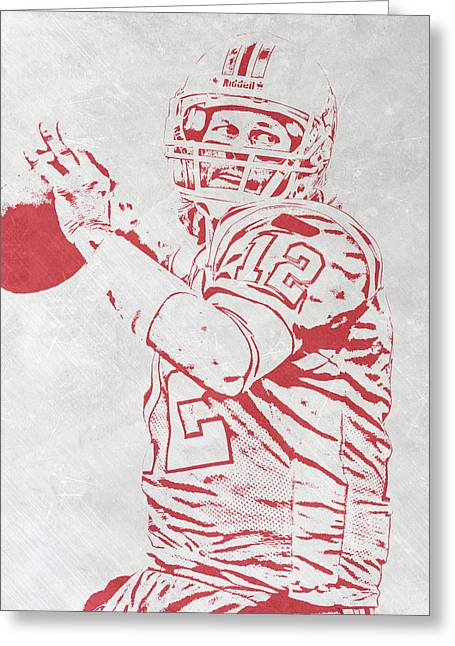 Tom Brady New England Patriots Pixel Art 4 Greeting Card