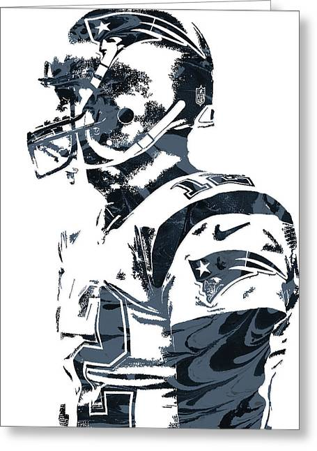 Tom Brady New England Patriots Pixel Art 8 Greeting Card