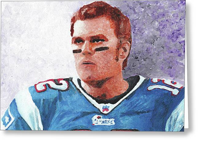 Newengland Greeting Cards - Tom Brady Greeting Card by William Bowers
