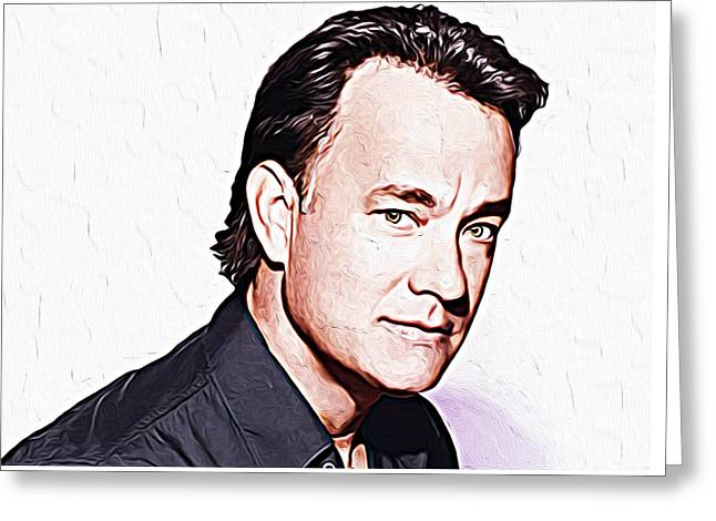 Tom Hanks Greeting Card by Iguanna Espinosa