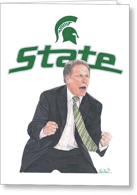Tom Izzo Greeting Card