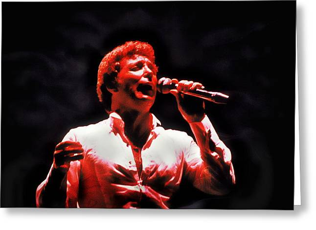 Tom Jones In Concert Greeting Card