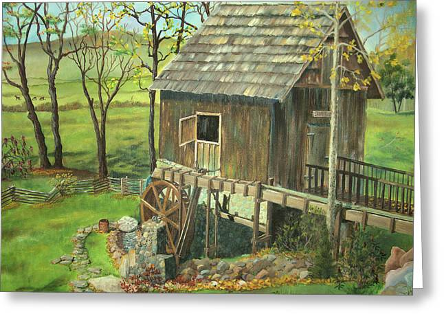 Tom Lott's Mill In Georgia Greeting Card