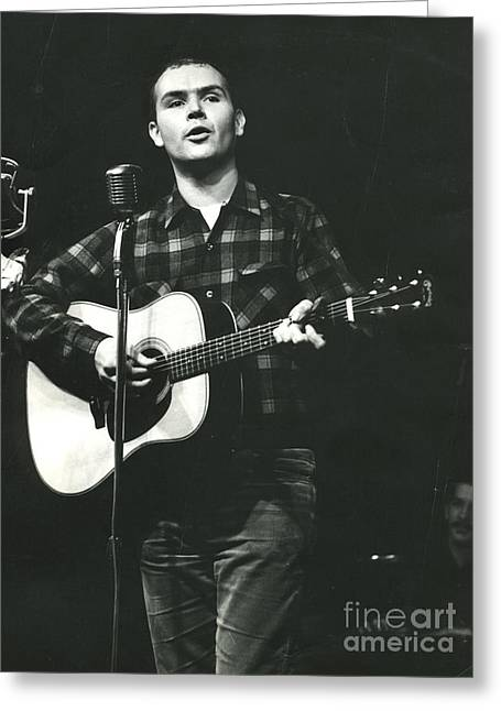 Tom Paxton Greeting Card by Erik Falkensteen