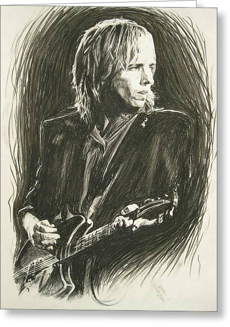 Travel Pastels Greeting Cards - Tom Petty 1 Greeting Card by Michael Morgan