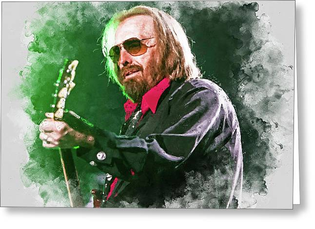 Tom Petty - 20 Greeting Card by Andrea Mazzocchetti