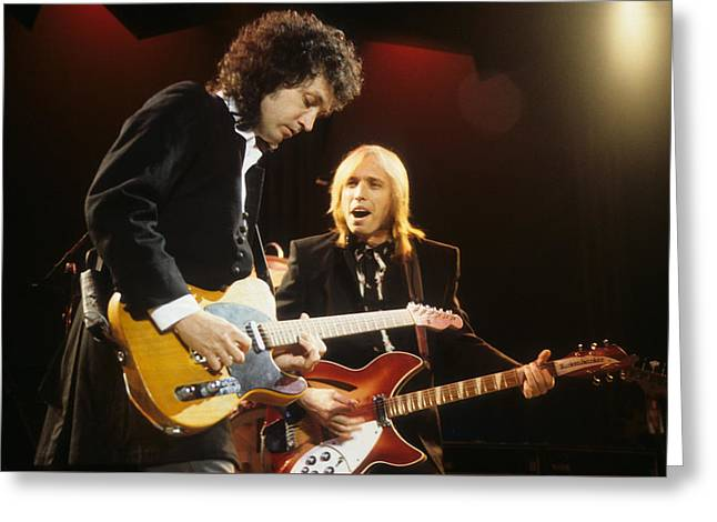 Tom Petty And Mike Campbell Greeting Card