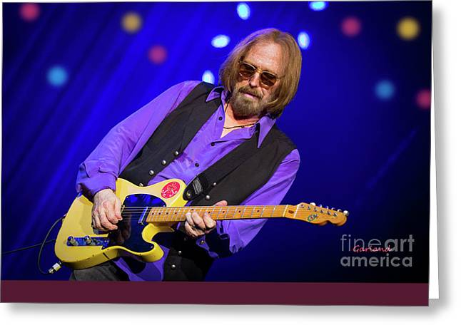 Tom Petty And The Heartbreakers Greeting Card by Garland Johnson
