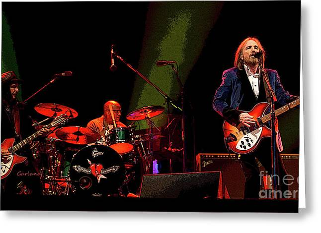 Tom Petty In Concert Greeting Card by Garland Johnson