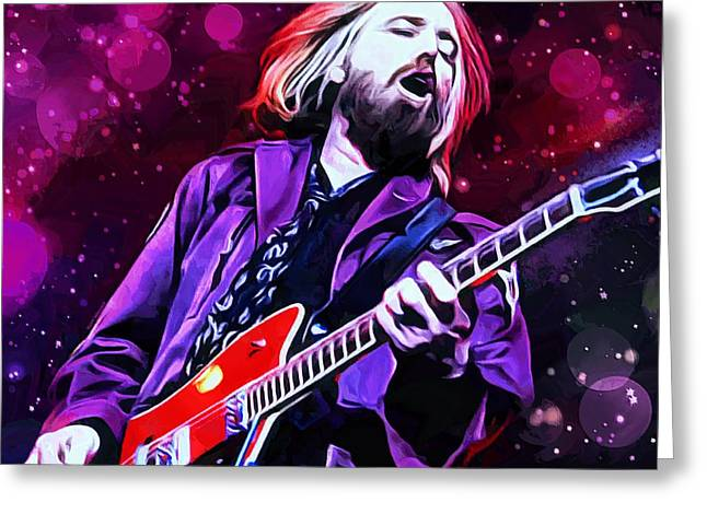 Tom Petty Painting Greeting Card