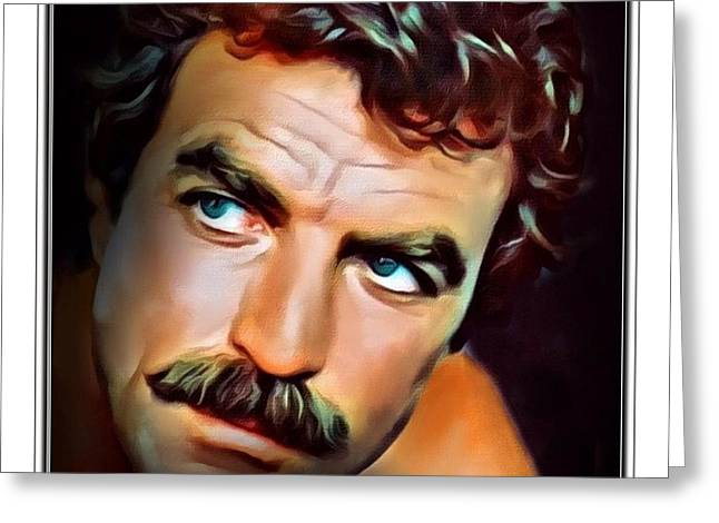 Tom Selleck Border Print  Greeting Card by Scott Wallace