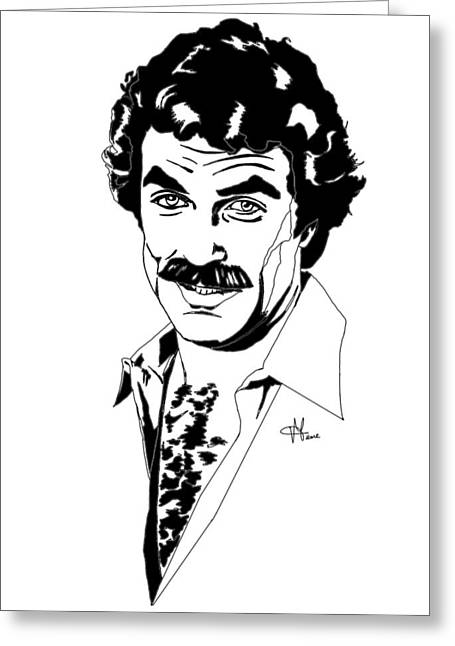 Tom Selleck Magnum Pi Greeting Card
