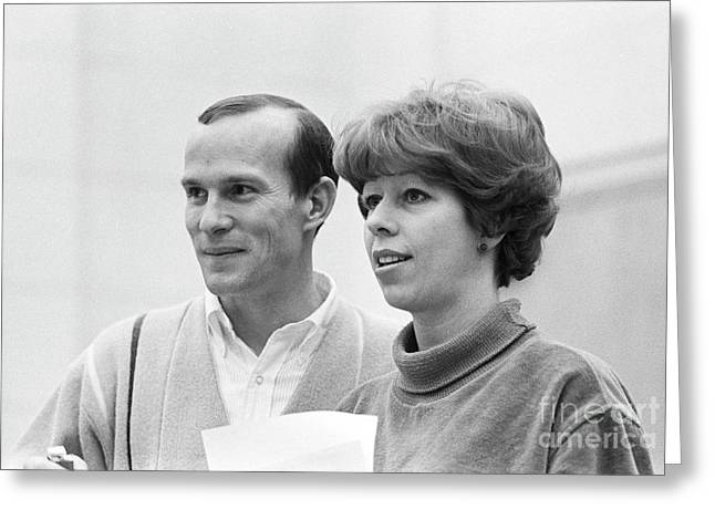 Tom Smothers And Carol Burnett On The Smothers Brothers Comedy H Greeting Card by The Harrington Collection