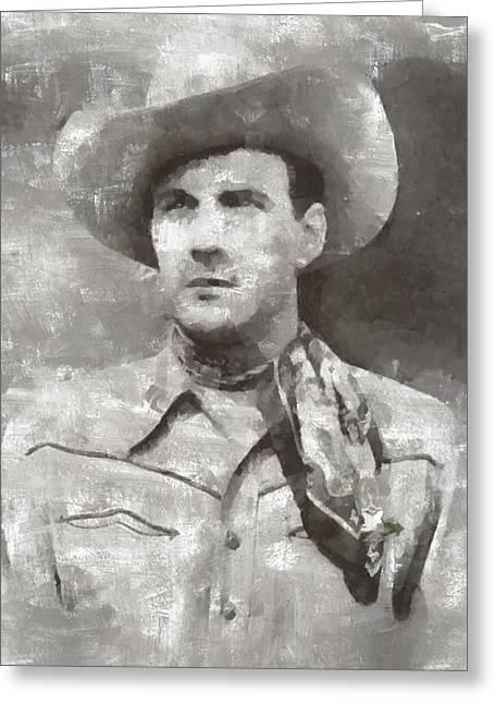 Tom Tyler, Vintage Western Actor Greeting Card