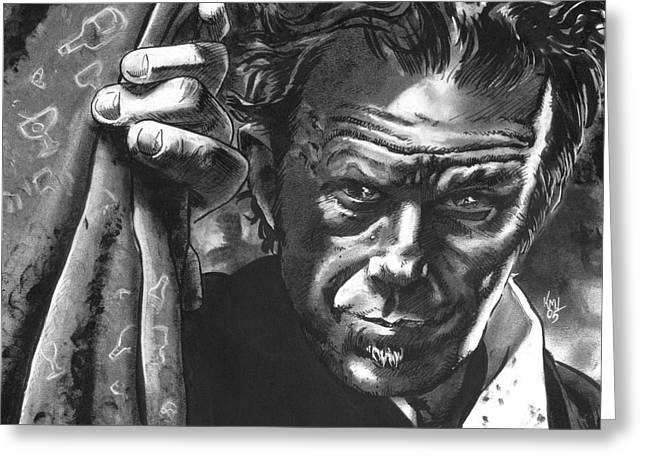 Tom Waits Greeting Card by Ken Meyer