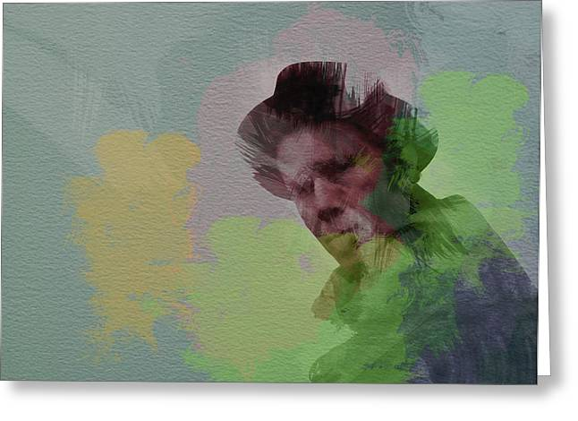 Tom Waits Greeting Card by Naxart Studio