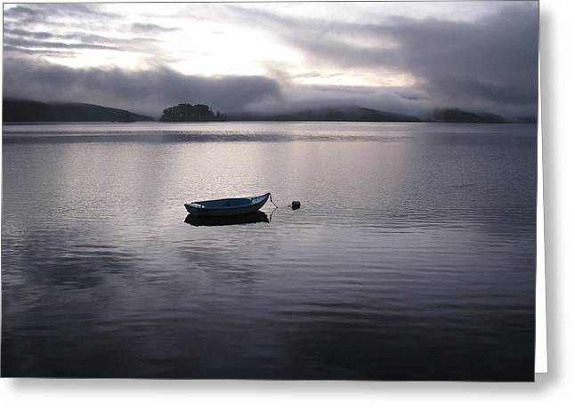 Greeting Card featuring the photograph Tomales Bay At Sunset by Dianne Levy