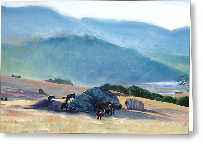 Tomales Twilight Greeting Card by Colleen Proppe