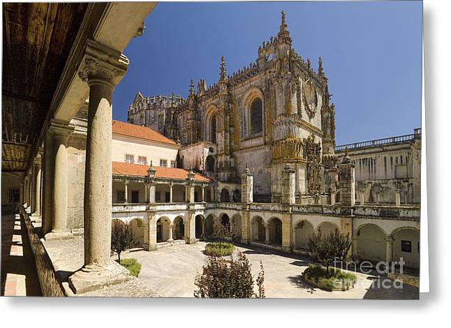 Tomar Courtyard, Portugal Greeting Card by Mikehoward Photography